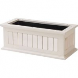 The Master Gardner - Window Box  Nantucket - White - 24 Inch