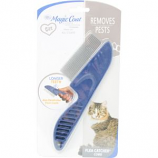 Four Paws Products - Long Tooth Flea Catcher Comb For Cat - Blue