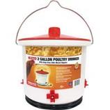 Farm Innovators - Poultry Drinker Heated W/Side - Mount Nipples - White - 2 Gal