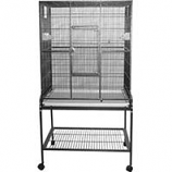 A&E Cage Company - Flight Bird Cage With Stand-Blue - 32 X 21 X 63 Inch