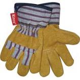 Kinco International-Grain Pigskin Palm Glove-Tan/Blue/Red-Child