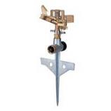 Melnor - Metal Pulsating Sprinkler With Step Spike - 85 Foot Diam