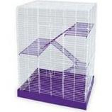 Ware Mfg. - Bird/Small Animal - Ware Pet Chew Proof 4-Story Cage - Purple/White