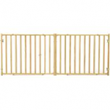 Midwest Homes For Pets - Extra - Wide Wood Pet Gate - Natural - 24 Hx50.25 - 94