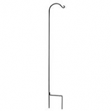 Hookery - Wrought Iron Crane Single Shepherd Hook - Black - 90 Inch