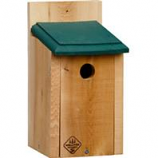 Welliver Outdoors - Chickadee House Cedar-Natural/Green-10.5X5.4X6.5X