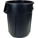 Hamburg/Nexstep Comm Prod - Maxi - Rough Trash Container - Black - 32 Gallon