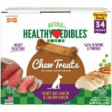 Tfh Publications/Nylabone - Healthy Edibles Variety Pack - Chicken/Beef - Petite/34 Ct