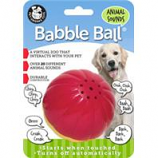 Pet Qwerks - Animal Sounds Babble Ball-Red & Yellow-Large
