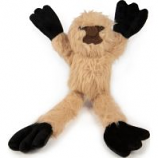 Quaker Pet Group - Godog Crazy Tugs Sloth Plush Squeaker Dog Toy - Tan - Small