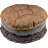 Dallas Mfg Company - Cozy Pet Round Plaid Reversivle Pet Bed - Assorted - 40 In