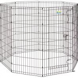 Midwest Container - Contour Exercise Pen With Door - Black - 48 In