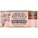 Grandma Mae's Country Naturals - Country Naturals Grain Free Cat & Kitten Pate - Beef - 2.8 Oz