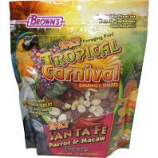 F.M. Browns - Pet - Tropical Carnival Spicy Santa Fe Parrot Treat - Fruit/Nut - 12 Oz