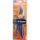 Fiskars  - Cutting  - Power Gear Softgrip Bypass Pruner-Black/Orange-10 Inch