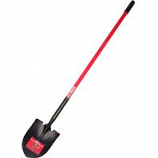 Bully Tool  - Long Handle Round Point Shovel Fiberglass Handle