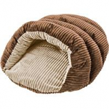 Ethical Fashion-Seasonal - Sleep Zone Corduroy Cuddle Cave-Chocolate-22 Inch