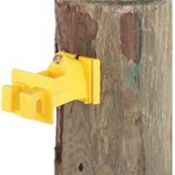 Dare Products Inc-Snug Wood Post Insulator-Yellow-25 Pack