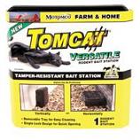 Motomco - Tomcat Versatile Rodent Bait Station-Black-9X9X4 Inch