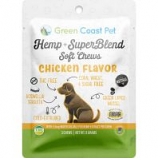 Green Coast Pet - Trial-Size Hemp + Superblend Chicken Soft Chew - Chicken - 3 Ct