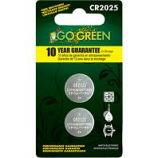 Gogreen Power - Lithium Battery For Electronics And Watches - Silver - Cr2025/2 Pack