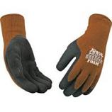 Kinco International-Frostbreaker Foam Latex Gripping Glove-Brown & Gray-Medium