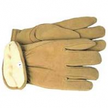 Boss Manufacturing -Therm Insulated Split Deerskin Driver Glove-Yellow-Jumbo