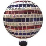 Alpine Corporation - Patriotic Stars And Stripes Gazing Globe - 10 Inch
