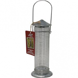 Audubon/Woodlink - Rustic Farmhouse Silo Mesh Sunflower Seed Feeder - Galvanized