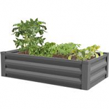 Panacea  - Raised Galvanized Planter-Antique Iron-48X12X24