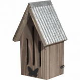 Audubon/Woodlink - Butterfly House With Metal Roof And Butterfly - Natural
