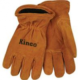 Kinco International-Lined Suede Cowhide Glove-Tan-Youth
