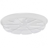 Bond Manufacturing - Plastic Saucer-Clear-12 Inch