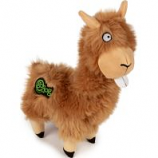 Quaker Pet Group - Godog Buck Tooth Llama Durable Plush Dog Toy - Tan - Small