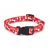 Casual Canine - Patterns Collar Bone - 18-26Inch - Red