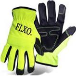 Boss Manufacturing -Hi-Vis Pu Palm Glove With Foam Padding-Medium