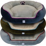 Dallas Mfg Company - Cozy Pet Cuddler Bolster Pet Bed - Assorted - 36 In