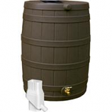 Good Ideas - Rain Wizard Rain Barrel - Oak - 50 Gallon