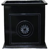 Southern Patio - Colony Square Planter - Black - 16 Inch