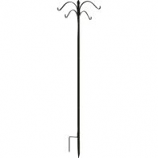 Panacea Products - Boxed Deluxe 4-Way Finial Shep Hook - Black - 84 Inch