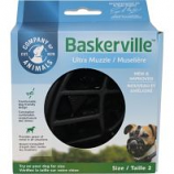 The Company Of Animals - Baskerville Ultra Moldable Muzzle - Black - Size 2
