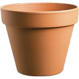 Southern Patio - Standard Clay Pot-Terra Cotta-8 Inch