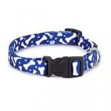 Casual Canine - Patterns Collar Bone - 18-26Inch - Blue