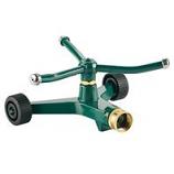 Melnor - Metal Revolving Sprinkler With Wheeled Base - 45 Foot Diam