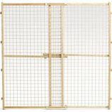 Midwest Homes For Pets - Wood/Wire Mesh Pet Gate - Natural - 44 H X 29 - 50 W