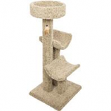 Ware Mfg-  Dog/Cat - Playtime Palace Cat Furniture-Natural-20Wx20Dx51H