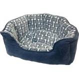 Ethical Fashion-Seasonal - Sleep Zone Bones Scallop Shape Bed-Gunmetal-24 Inch