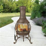 Hookery - Chiminea Cast Iron Corona - Gold - 15 Inch