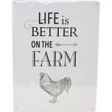 My Favorite Chicken - Life Is Better On The Farm Metal Sign - 12X16