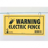 Dare Products Inc-Electric Fence Warning Sign-Yellow-3 Pack
